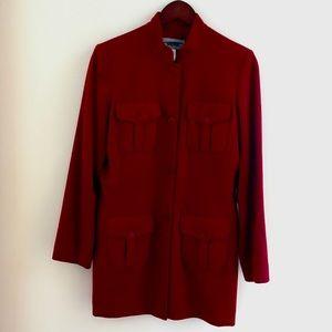 Liz Claiborne red wool coat